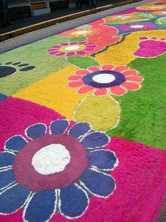 2015 semana santa tegucigalpa alfombras de aserrin