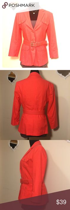 ❗️NWT❗️NY&Co Blazer, doesn't fit ❗️NWT❗️NY&Co Blazer Orangish/reddish color color, but more in the orangish side. Just doesn't fit me. Size 6 New York & Company Jackets & Coats Blazers