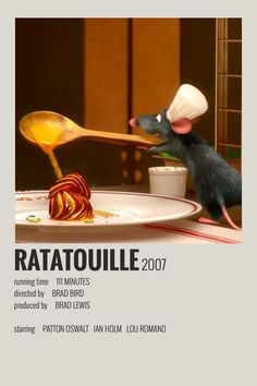 Alternative Minimalist Movie/Show Poster – Ratatouille – posters – murnoir Iconic Movie Posters, Minimal Movie Posters, Minimal Poster, Movie Poster Art, Poster S, Iconic Movies, Poster Wall, Disney Movie Posters, Poster Retro