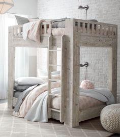 full-over-full bunk bed. modern, functional design. #rhbabyandchild