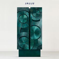 An Armoire in Straw Marquetry, lacquer exterior, Macassar ebony interior, our Ripple Cabinet is more than a functional object, it's a unique piece of decorative art. Designed by Jallu, straw marquetry furniture, marqueterie de paille, Jallu Creations 2021, interior design, super yacht interiors, luxe, french craftsmanship, bespoke furniture, custom furniture, made in France, interior design inspiration, design inspiration