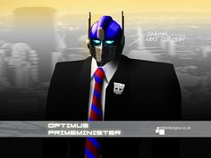 Surprise entry in the UK Parliament reshuffle.  Optimus PrimeMinister.