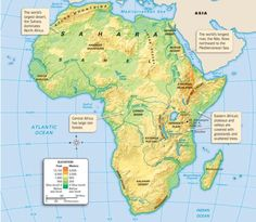map of Africa with rivers labeled | learn something new every day