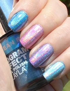 Layla Hologram Effect Nail Polish Swatches :)