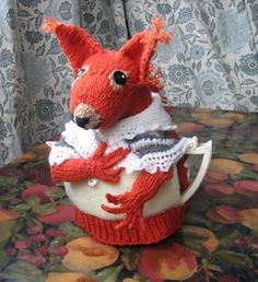 ❥Knit Tea Cosies, Mug Hug Snugs and Cuppa Cosies. Mrs Fox Ravelry: Anyone for tea?