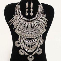 PWB0433 - Tribal warrior necklace