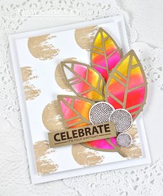 Celebrate Your Birthday Card by Dawn McVey for Papertrey Ink (August 2015)