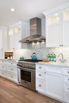 coffee station// House of Turquoise: Lauren Shadid Architecture Kitchen Hood Fan, Kitchen Vent, White Kitchen Cabinets, Kitchen Countertops, New Kitchen, Kitchen Decor, Tall Cabinets, Kitchen Exhaust, Shaker Cabinets