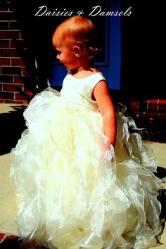 Flower girl dress ivory girls toddler baby by DaisiesandDamsels, $247.24