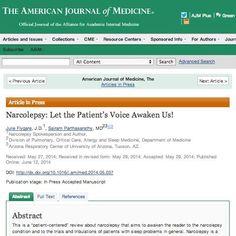 #Narcolepsy: Let the Patient's Voice Awaken Us! in Am. Journal of Medicine #SLEEP2014 http://www.ncbi.nlm.nih.gov/pubmed/24931392 pic.twitter.com/cktmWHu6zo