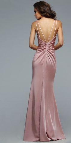 Faviana 7755 Satin Prom Dress - Faviana - 7755 - $318.00 Faviana Dresses, Satin Dresses, Lace Dress, Chiffon Dresses, Ruched Dress, Group Usa Prom Dresses, Prom Dresses Online, Grad Dresses, Fall Dresses