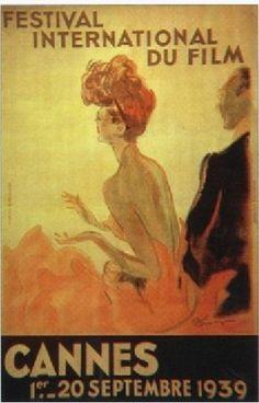 Affiche du festival de Cannes 1939 ... Canne Film Festival poster.
