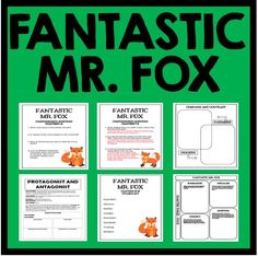 Fantastic Mr. Fox by Roald Dahl - Complete Novel Study with questions, activities, and projects!