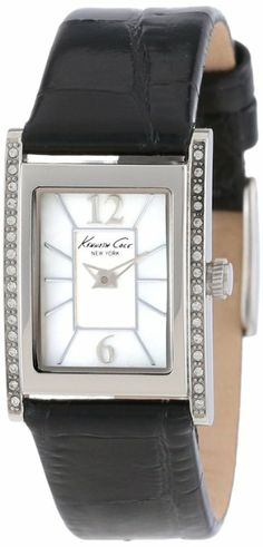 ac9be537e85c Amazon.com  Kenneth Cole New York Women s KC2749 Classic Silver Tank Case  Stones on Bezel Watch  Kenneth Cole  Watches