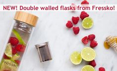FRESSKO WATER FLASK - Great for making your infused water to take on the go. Refreshing and full of nutrients - why drink plain water?