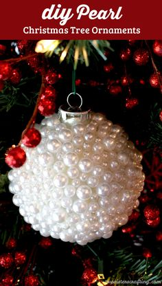 4 diy holiday decorations pinterest holiday candles holidays pearl christmas tree ornaments solutioingenieria Images