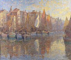 "Harwood, James Taylor ""Boats of Chioggia"" (1939)"