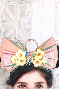 """Grab your Dole Whip and head to Adventureland — we've found the perfect """"crown"""" for your magical, tropical adventures: Enchanted Tiki Room Diy Disney Ears, Disney Diy, Disney Trips, Tiki Room, Mickey Mouse Ears, Enchanted, Tropical, Parenting Tips, Vacations"""