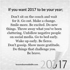 Make 2017 your year!