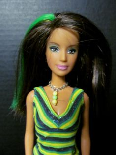 Candy-Glam-Cherry-Fashion-Fever-Lime-Teresa-Barbie-LOT-Red-Hilighted-Hair-SET