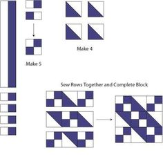 Learn How to Make Traditional Jacob's Ladder Quilt Blocks