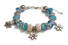 Winter Wonderland  European Style Bracelet by JannysStorybeads, $40.00