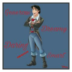 Eric's Personality (Little Mermaid) Disney Pics, Disney Pictures, Sailor Princess, Prince Eric, 101 Dalmatians, Disney Princesses, The Little Mermaid, Personality, Awesome