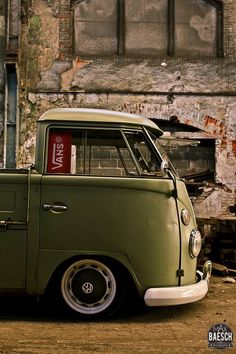 Lovely army green vw camper..Re-pin brought to you by agents of #Carinsurance at #HouseofInsurance in Eugene, Oregon