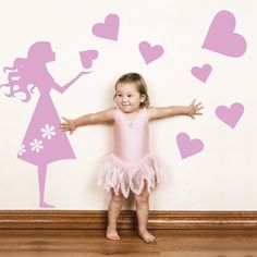 Make your kids' fantasies come true with these giant Emma's Hearts wall stickers. Simply peel and stick the colorful kids' wall decal to provide a fun and assuring environment for kids by making them feel safe around images of their size.