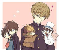 hakuba x kaito Magic Kaito, Anime Manga, Anime Guys, Detective Conan Shinichi, Kaito Kuroba, Fangirl, Detective Conan Wallpapers, Kaito Kid, Detektif Conan