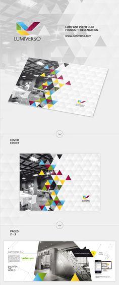 LUMIVERSO - Company catalog / folder - LED PRODUCTS - via Behance.net