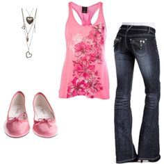 Pink, created by nicolebowes on Polyvore