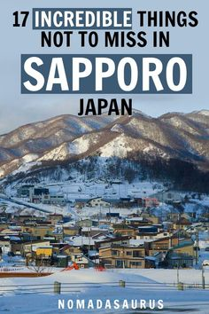 Here are 17 magical things to do in the incredible region of Sapporo, Japan! : Here are 17 magical things to do in the incredible region of Sapporo, Japan! Japan Travel Guide, Asia Travel, Travel Guides, Costa Rica Travel, Visit Japan, Sapporo, Tokyo Japan, Japan Art, Ultimate Travel