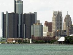 Detroit skyline from the Windsor, ONT side of the river.