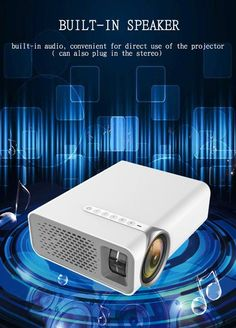 CRENOVA Wireless Connection Video Projector HD 1920*1080P Small And Po Best Portable Projector, Projector Hd, Home Theater Projectors, Built In Speakers, Home Cinemas, Multimedia, Plugs, Connection, Usb