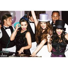 Kim Kardashian, Khloe Kardashian Kourtney Kardashian In 'Glamour' See... ❤ liked on Polyvore