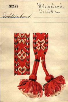 Swedish Fashion, Folk Fashion, Swedish Embroidery, Hand Embroidery, Folk Costume, Costumes, Textiles, Band, Italian Style