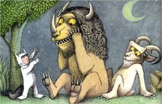 """""""But the wild things cried, 'Oh please don't go....'"""" RIP Maurice Sendak."""