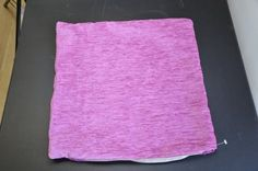 Bright Pink Chenille Rib Effect Cushion Cover 40cm x 40cm Sample Piece - for 1p Auction in our eBay store!