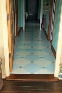 crazy house capers ..   love the painted floor...