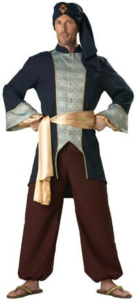 Adult Super Deluxe Royal Sultan Costume - Arabian Costumes