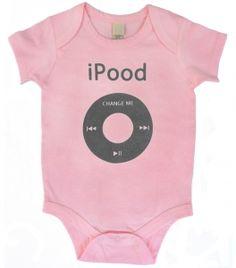 Kiditude - iPood Pink iPod Onesie