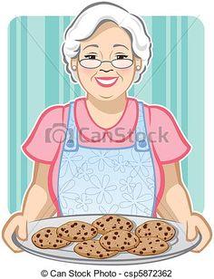 grandma& cookies~~ - Precious and Sweet Grandma Photo . Cartoon Grandma, Cookie Vector, Grandma Cooking, Logo Cookies, Kids Vector, Mrs Claus, Medical Illustration, Book Illustration, Free Illustrations