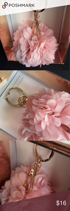 LC Lauren Conrad Key chain Pink Pom Pom Rose gold Brand new in box Rose Gold Lauren Conrad key chain. Delicate pink Pom Pom. Light weight and super pretty in person! Thanks for visiting! LC Lauren Conrad Accessories Key & Card Holders