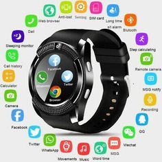 🥇Buy Watches ✅ Smart Watch Men Bluetooth Sport Watches Women Ladies Rel gio Smartwatch with Camera Sim Card Slot Android Phone PK ~ smart watch sport watch Sport Watches, Cool Watches, Watches For Men, Popular Watches, Wrist Watches, Mvmt Watches, Stylish Watches, Remote Camera, Camera Phone
