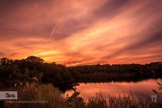 Sunset - Pinned by Mak Khalaf Landscapes cloudslakelightskysunsettreeswater by SilentWave
