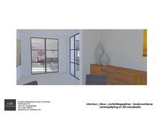 Verkoopstyling en 3D-visualisatie t.b.v. huizenverkoop   onafhankelijk vastgoedstyling- en interieuradvies   Huis & Interieur. Vanuit de ontbijtkamer kijk je ook naar de woonkamer.