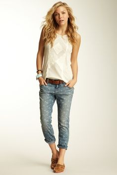 Printed Ditsy Cropped Jean by Free People