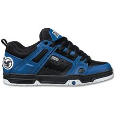 DVS Comanche | Black / Blue Leather ― Canada's Online Skate Shop