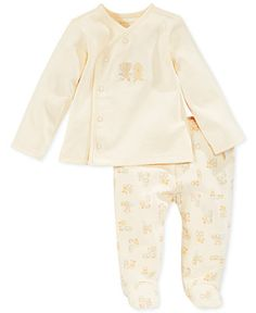 First Impressions Baby Set, Baby Girls Asymmetrical Shirt and Footed Pants